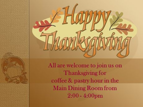 Thanksgiving Coffee & Pastry Hour